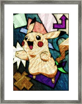 Pokemon - Pikachu Framed Print by Kyle West