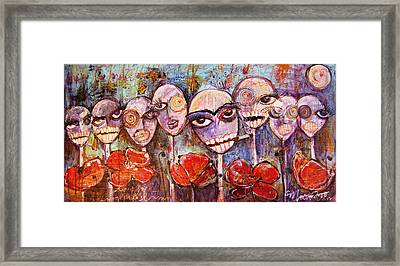 5 Poppies For The Dead Framed Print