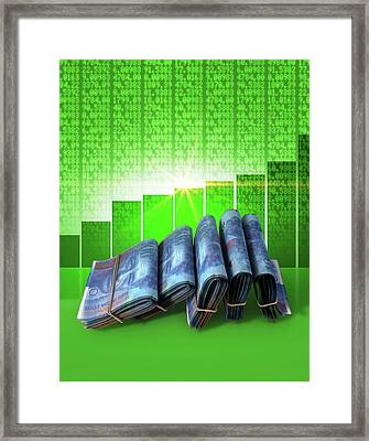 Positive Market Money Framed Print
