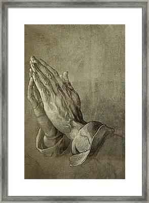 Praying Hands Framed Print