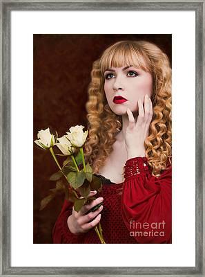 Pre-raphaelite Woman Framed Print by Amanda Elwell
