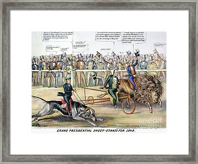 Presidential Campaign Framed Print by Granger