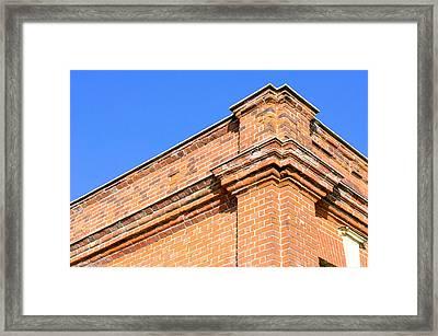 Red Brick Building Framed Print