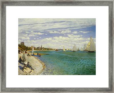 Regatta At Sainte-adresse Framed Print