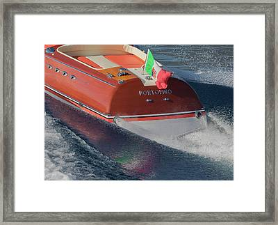 Riva Portofino Framed Print by Steven Lapkin