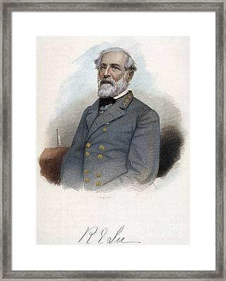 Robert E. Lee (1807-1870) Framed Print by Granger