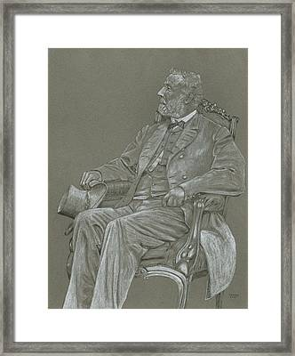 Robert E. Lee Framed Print by Dennis Larson
