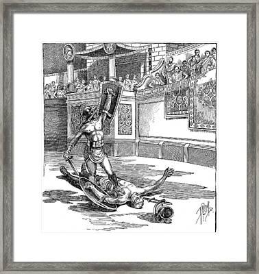 Roman Gladiators Framed Print