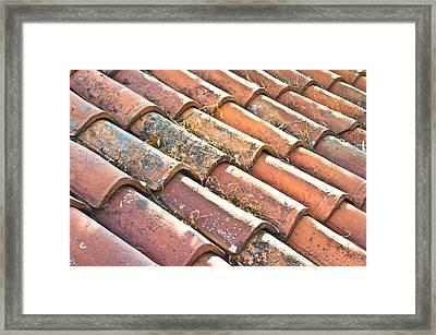 Roof Tiles Framed Print