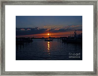 5- Sailfish Marina Sunset In Paradise Framed Print by Joseph Keane
