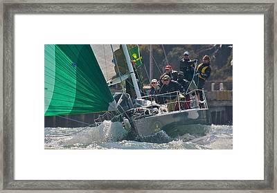 San Francisco Sailboat Racing Framed Print