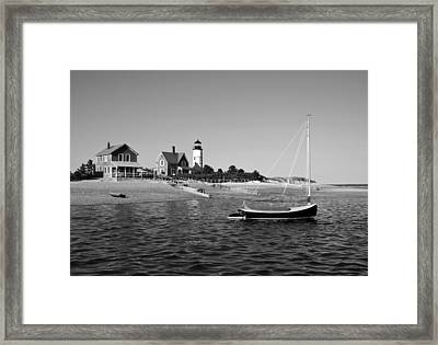 Framed Print featuring the photograph Sandy Neck Lighthouse by Charles Harden