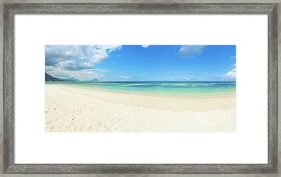Sandy Tropical Beach. Panorama. Framed Print