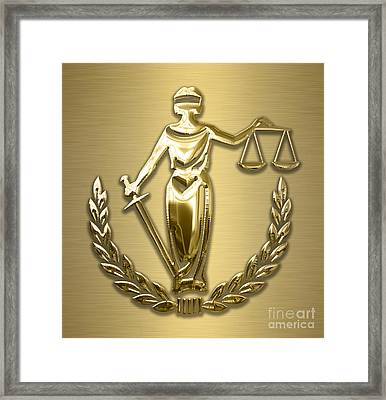 Scales Of Justice Collection Framed Print