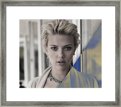 Scarlett Johansson Collection Framed Print
