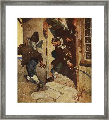 Scene From Treasure Island Framed Print by Newell Convers Wyeth