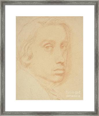 Self-portrait Framed Print by Edgar Degas