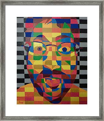 Framed Print featuring the painting Self Portrait by Joshua Redman