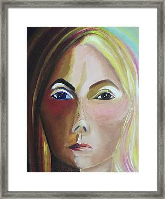 Self Portrait Framed Print by Suzanne  Marie Leclair