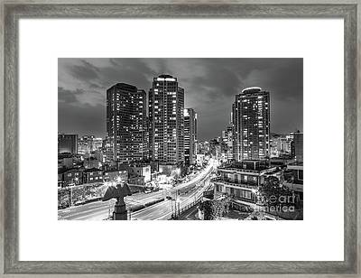 Seoul Night Rush Framed Print