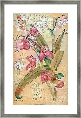 Shabby Chic Botanical Flowers Framed Print