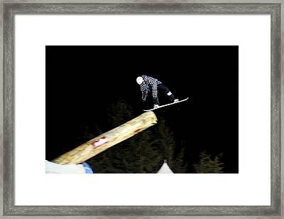 Snowboarder At The Telus Snowboard Festival Whistler 2010 Framed Print