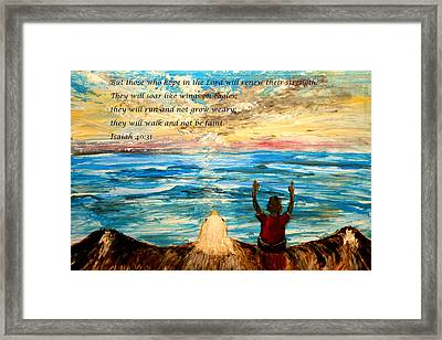 Soar On Wings Like Eagles... Framed Print by Amanda Dinan