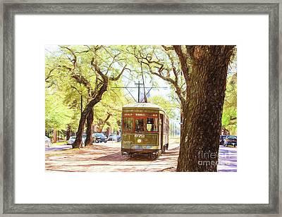 St. Charles Streetcar Framed Print by Scott Pellegrin
