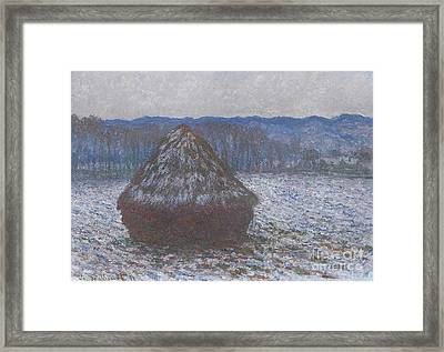 Stack Of Wheat Framed Print by Claude Monet