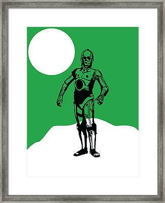 Star Wars C-3po Collection Framed Print by Marvin Blaine