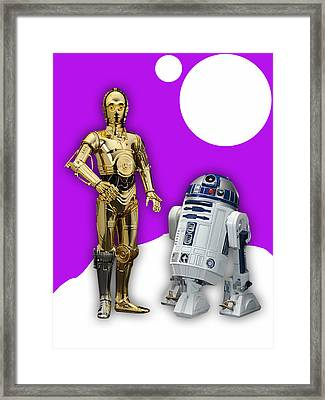 Star Wars C3po And R2d2 Collection Framed Print by Marvin Blaine