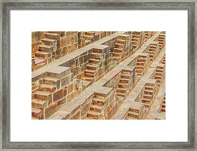 Steps At Chand Baori Framed Print by Nila Newsom