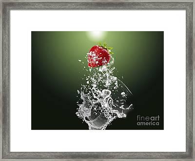 Strawberry Splash Framed Print