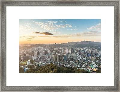 Sunset Over Seoul Framed Print