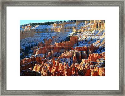 Sunset Point In Bryce Canyon Framed Print