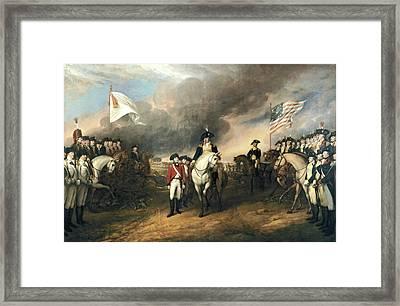 Surrender Of Lord Cornwallis Framed Print by John Trumbull