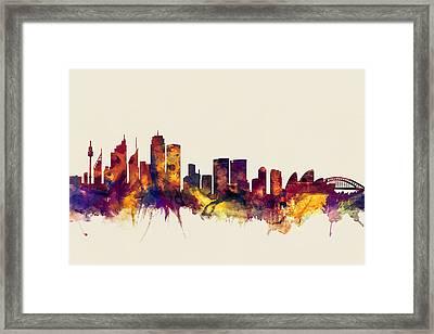 Sydney Australia Skyline Framed Print