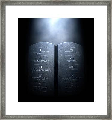 Ten Commandments Framed Print by Allan Swart