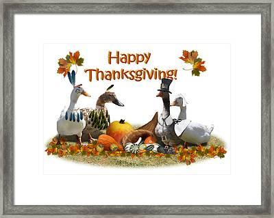 Thanksgiving Ducks Framed Print