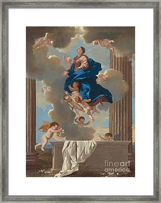 The Assumption Of The Virgin Framed Print by Nicolas Poussin
