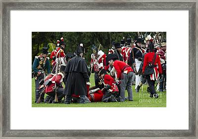 The Battle Of Queentson Heights Framed Print