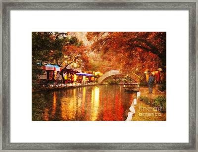 The Bridge Framed Print by Iris Greenwell