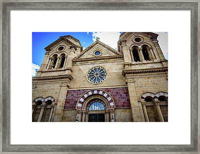 The Cathedral Basilica Of St Francis Of Assisi - Santa Fe - New Mexico Framed Print