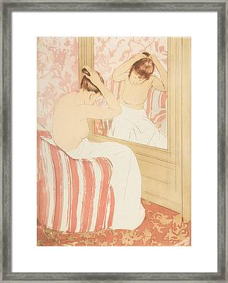The Coiffure Framed Print