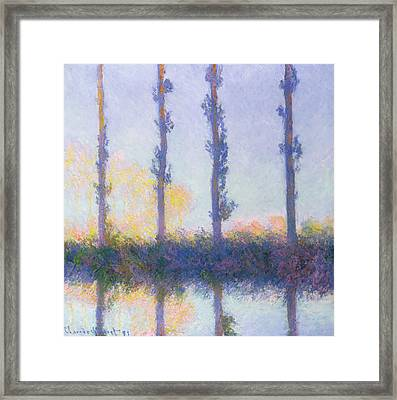 The Four Trees Framed Print by Claude Monet