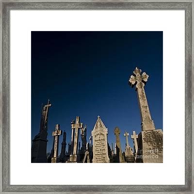 The Graveyard Framed Print by Angel Ciesniarska