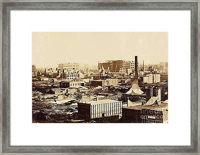 The Great Chicago Fire, 1871 Framed Print
