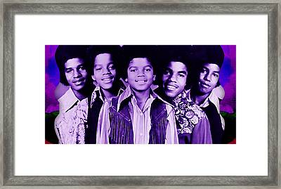 The Jackson 5 Collection Framed Print by Marvin Blaine