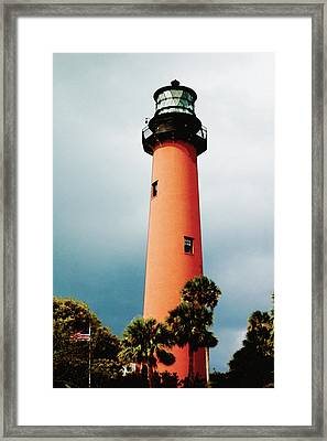 Framed Print featuring the pyrography The Lighthouse by Artistic Panda