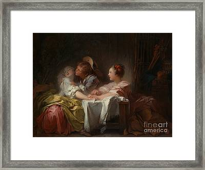 The Stolen Kiss Framed Print